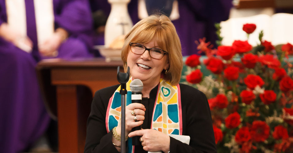 Pastor Cindy Welcomes All