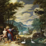 The Creation of Adam in the Garden of Eden - by Jan Brueghel the Younger