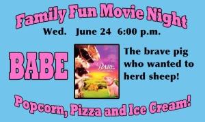 summer movie night _babe announcement